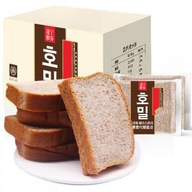 无蔗糖黑麦土司面包2斤32袋装