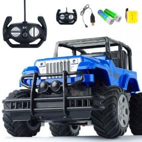 遥控小汽车越野车充电遥控汽车儿童男孩礼物玩具吉普车