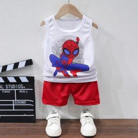男童背心套装2020夏季新款蜘蛛侠无袖运动球衣篮球