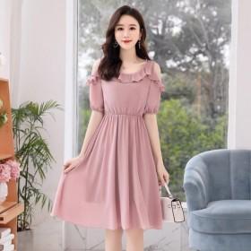 雪纺连衣裙2020夏季新款小矮子显瘦收腰超仙的仙女