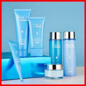八杯水护肤品六件套装补水保湿控油收缩毛孔美白水乳化