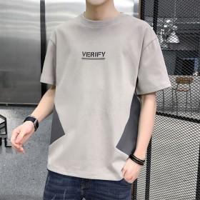 2020夏新款男士短袖T恤纯棉圆领韩版潮流百搭男装