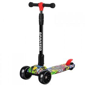 滑板车儿童单脚初学者折叠升降音乐三轮四轮滑滑车男女