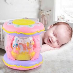 婴儿玩具旋转木马音乐手拍鼓儿童拍拍鼓可充电早教益智
