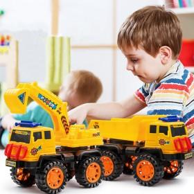 儿童男孩工程车套装挖掘机挖土机铲车卡车翻斗车玩具车