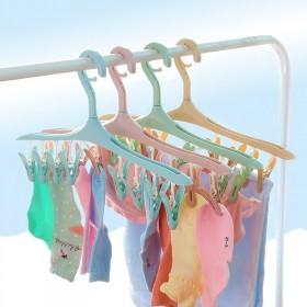 多功能8夹塑料晾衣架创意防风衣架卡扣 衣物晾晒塑料