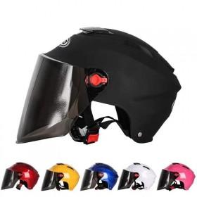 电动车头盔夏季男女通用防晒防紫外线半盔电瓶车防护帽