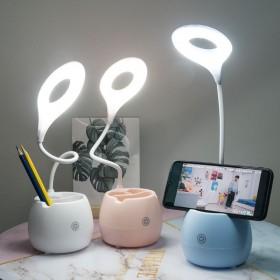 LED台灯护眼学习USB可充电卧室床头灯学生宿舍小