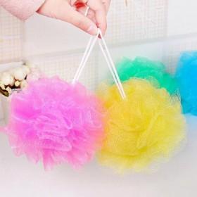 彩色沐浴球 多彩浴擦 洗澡巾搓背浴花打泡泡清洁洗浴