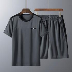男士休闲两件套速干透气冰丝T恤短裤