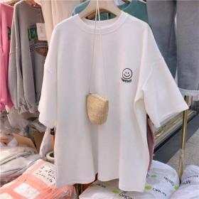 刺绣短袖ins潮2020夏季新款韩版宽松学生T恤女