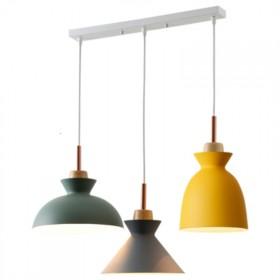 北欧餐厅马卡龙网红奶茶服装店铺商用同款客厅吊灯