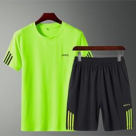 2件装】短裤男休闲裤韩版夏季五分裤圆领短袖T恤运动