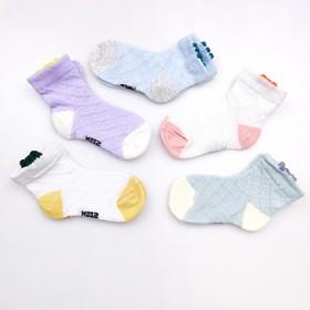 童袜夏季薄款纯棉透气宝宝卡通可爱花边冰丝袜子男女童