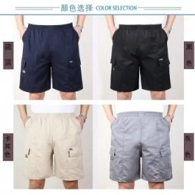 夏季中老年短裤男爸爸装薄款中年