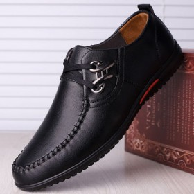 皮鞋春夏休闲鞋新款软底软面男士爸爸鞋透气男鞋子