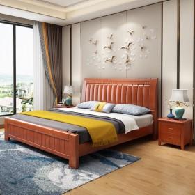 加粗加厚/好质量/实木床1.8米双人床大床1.5
