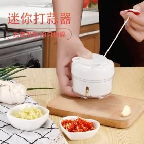 抖音厨房迷你蒜泥神器 小型手拉式捣蒜蓉器 手动切压