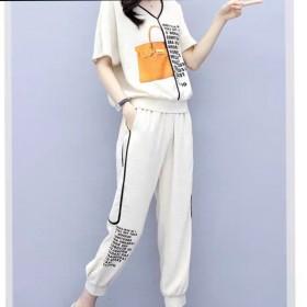 2020夏季新款休闲套装女韩版时尚九分裤两件套
