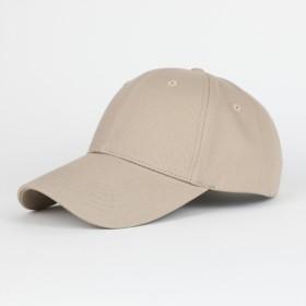 深卡其色精品纯棉棒球帽 韩版潮款