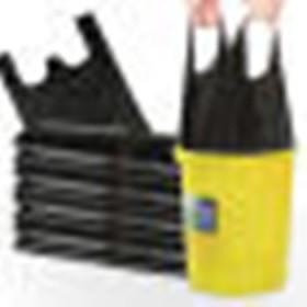 【50个垃圾袋】加厚垃圾袋手提黑色一次性背心袋