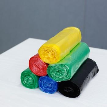 彩色厨房家用平口垃圾袋100只