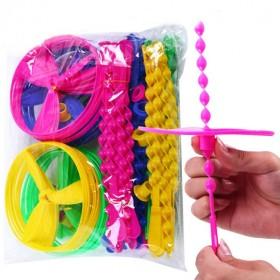 飞天仙子大号手推飞碟儿童户外玩具经典怀旧竹蜻蜓飞碟