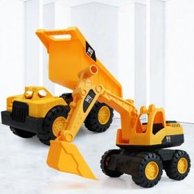 超大号耐摔挖掘机玩具车套装儿童工程车男女孩滑行沙滩
