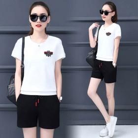 套装女夏2020新款韩版时尚短袖短裤休闲运动服气质
