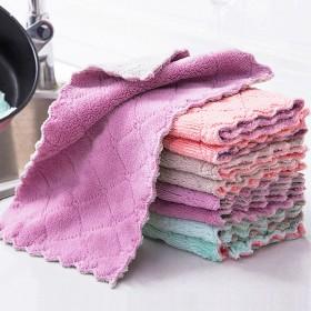 【10条装】厨房抹布洗碗布双面吸水不沾油家具清洁布