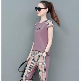 运动休闲套装女夏季2020新款短袖时尚韩版洋气女士