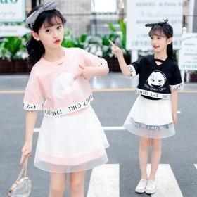 童装新款女童2020夏季套装儿童韩版卡通