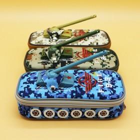 新款坦克迷彩笔袋小学生文具盒儿童牛津布铅笔盒铅笔袋