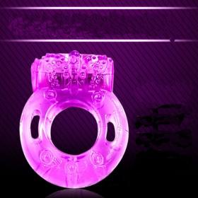 水晶蝴蝶震动环 电子振动环男用戒指锁精环太阳环成人