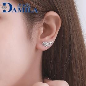 925纯银饰品韩国气质新款丢了一只耳环无耳洞耳夹翅