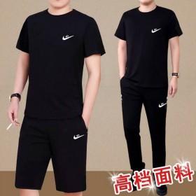 夏季2020新款男士运动套装大码休闲短袖...