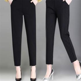 夏季新款直筒休闲裤显瘦弹力中老年妈妈裤外穿裤子