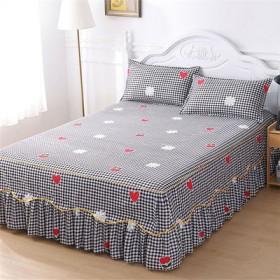 防滑单件床裙韩版床罩不起球床笠床单席梦思保护套