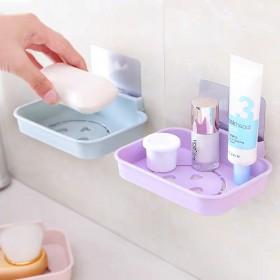 无痕粘贴壁挂香皂盒卫生间沥水香皂架 浴室卡通肥皂架