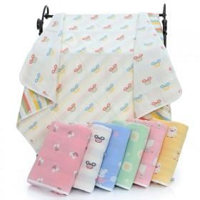 婴儿纱布浴巾六层宝宝蘑菇被儿童纯棉幼儿园午睡被双面