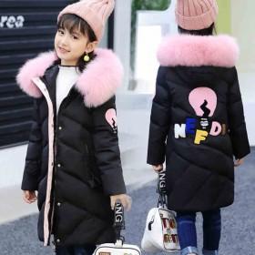 新款女童棉衣加厚保暖女孩棉袄中长款儿童冬季棉服