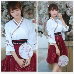 民族风女装套装汉服民国学生改良汉元素夏季襦裙中国风