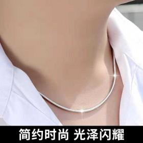 男士项链霸气蛇骨链粗锁骨链子女社会个性韩版颈链