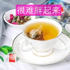 减肥养生茶女冬瓜荷叶乌龙玫瑰花茶