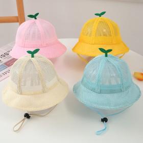 宝宝帽子夏季薄款遮阳儿童帽子夏大帽檐可爱渔夫帽
