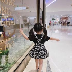 女童连衣裙小雏菊套装儿童背带裙小女孩裙子夏季女宝宝