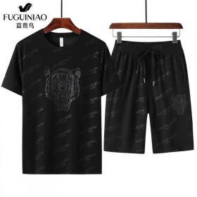 富贵鸟休闲套装男夏季轻薄速干短袖短裤t恤夏天男士宽