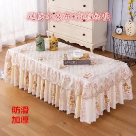 茶几桌布防尘罩布艺蕾丝餐桌桌布电视柜防尘套防滑