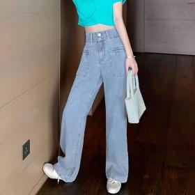 百搭牛仔裤女夏2020新款高腰显瘦宽松裤子女夏薄款