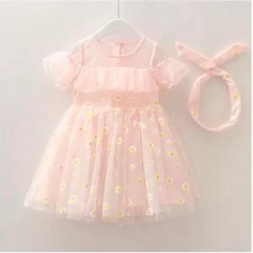 女童夏季新款小雏菊公主裙儿童夏装小清新百搭连衣裙